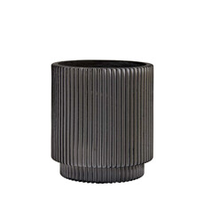 Capi Bloempot Cylinder Groove 17 cm